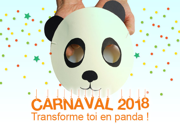 tuto creatif masque carnaval panda. Black Bedroom Furniture Sets. Home Design Ideas